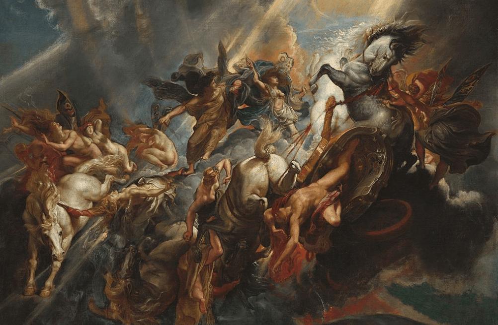 La caída de Phaeton de Rubens