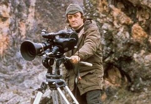 Félix Rodriguez de la Fuente con cámara