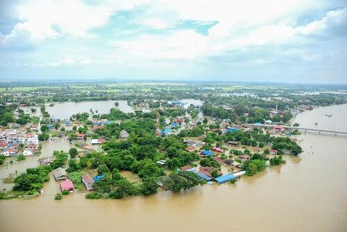 Pueblo inundado