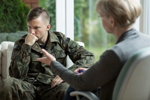 Soldado en terapia