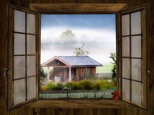 casa simbolizando lo que vemos desde la ventana
