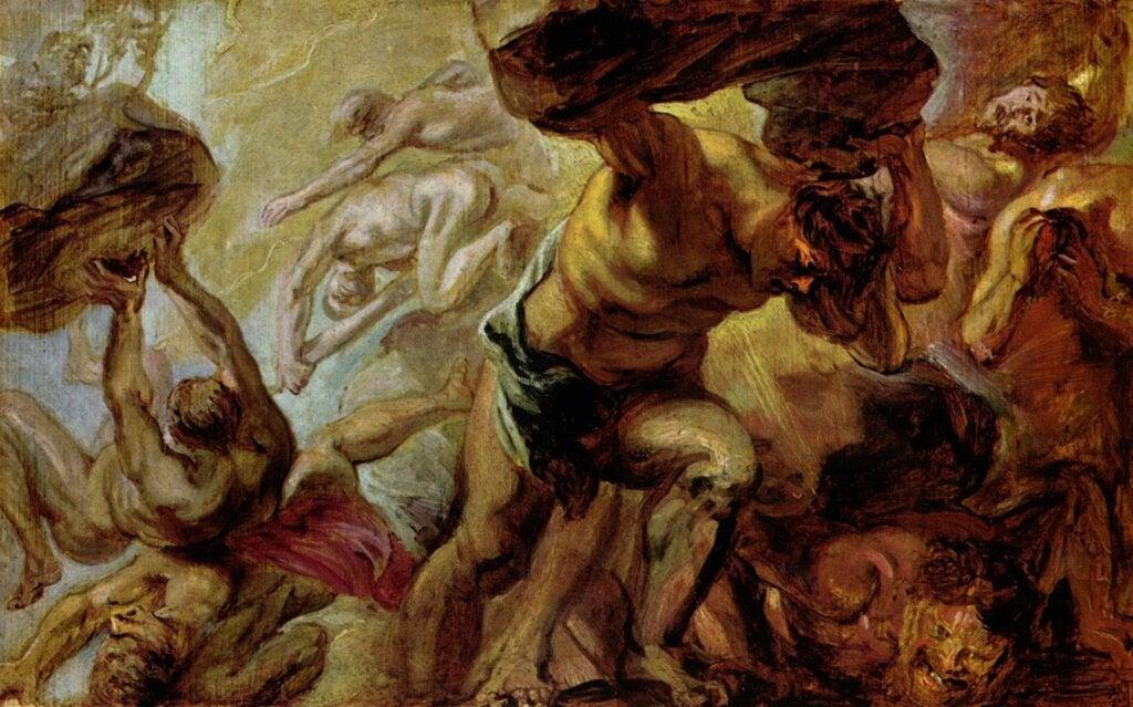 La caída de los titanes de Rubens