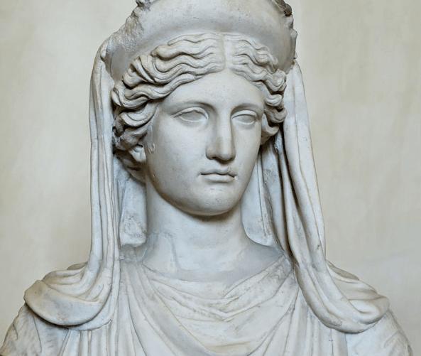 Estatua del rostro de Deméter