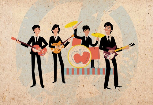 Ilustración The Beatles