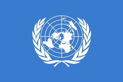 La bandera de las Naciones Unidas