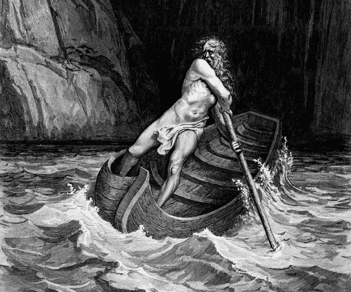 El mito de Caronte, barquero del inframundo