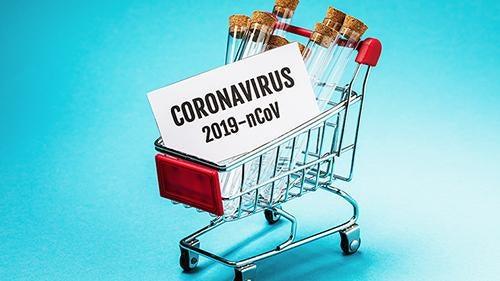 Carrito representando las compras nerviosas por coronavirus