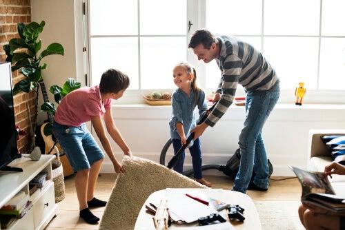 Cómo implicar al niño en las tareas de casa