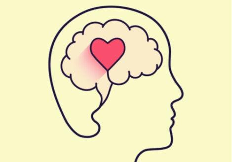 Mente de una persona con un corazón para representar la inteligencia emocional durante el confinamiento