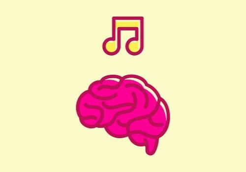 Nota musical sobre cerebro para representar los beneficios de la musicoterapia en el daño cerebral adquirido