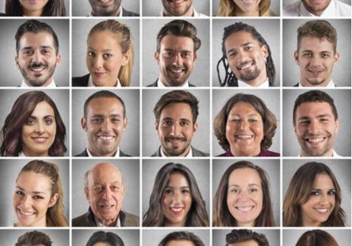 Rostros con diferentes expresiones