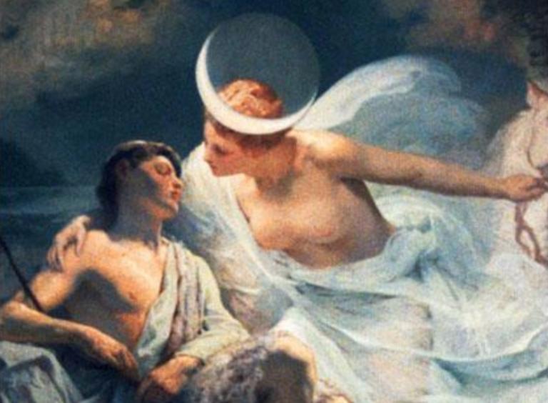 El mito de Selene, la diosa luna