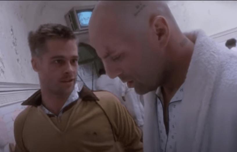 Dos hombres en un manicomio de la película 12 Monos