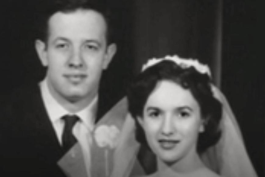 John Nash y su mujer en la boda