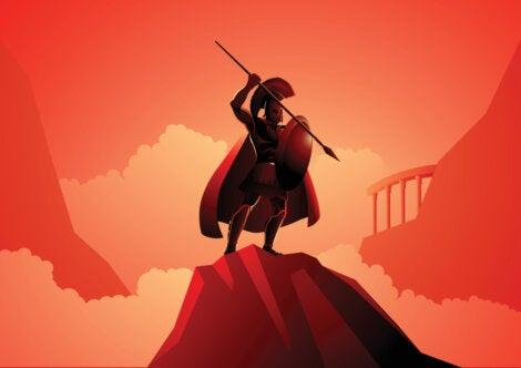 Ares con lanza y escudo