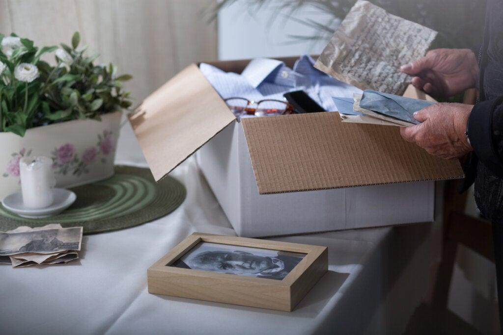 Caja con recuerdos