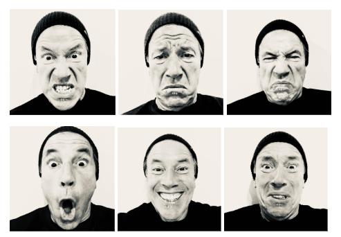 Las 6 emociones básicas Darwinianas.