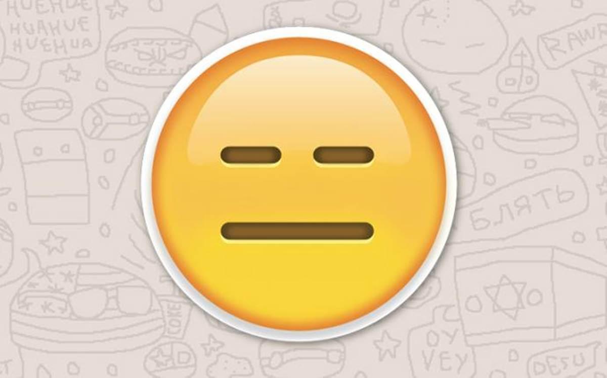 Emoticono demostrando emociones neutras