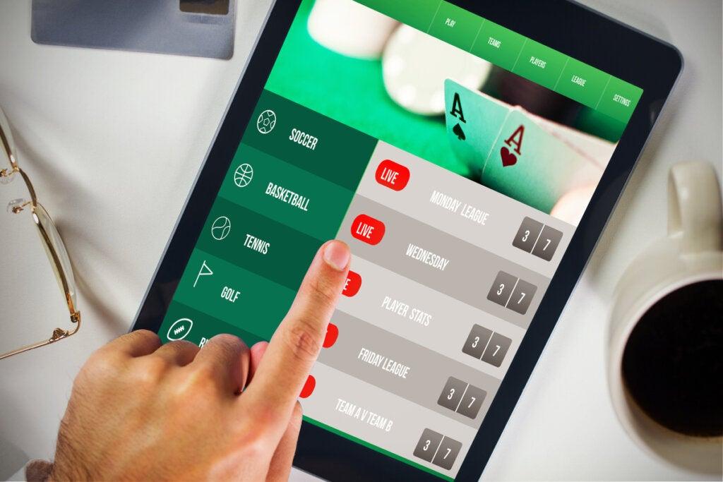 Tablet con apuestas online