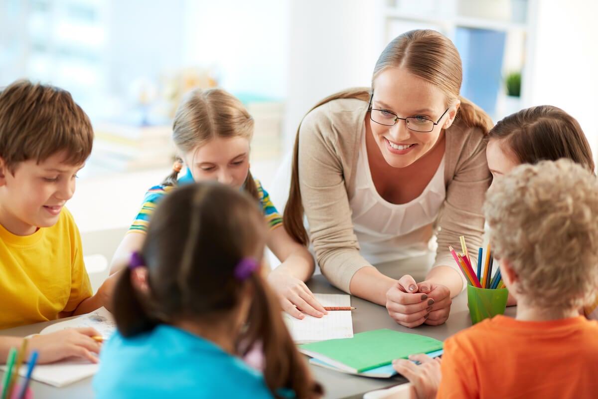 Alumnos con profesora