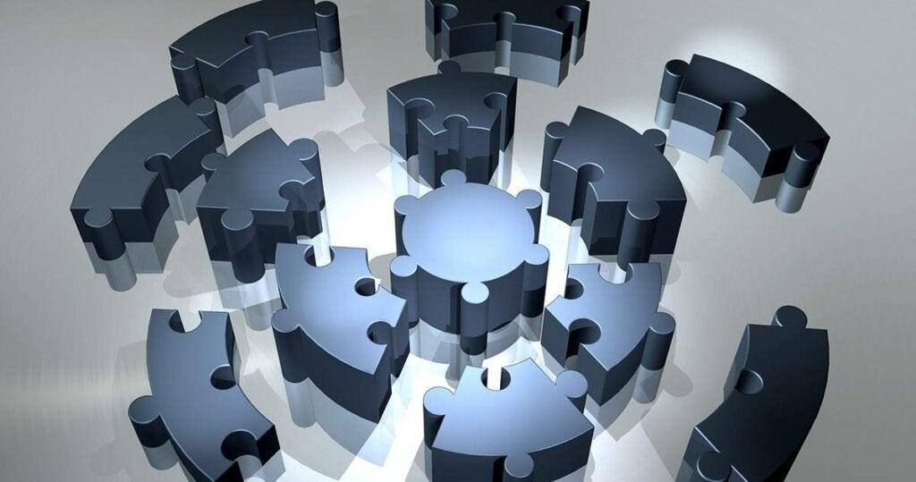 Puzle esférico para representar el problema de la apraxia constructiva