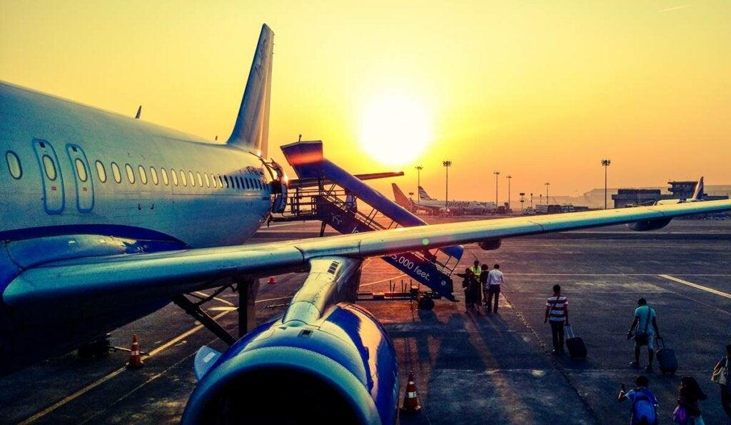 Avión representando la hodofobia o miedo a viajar
