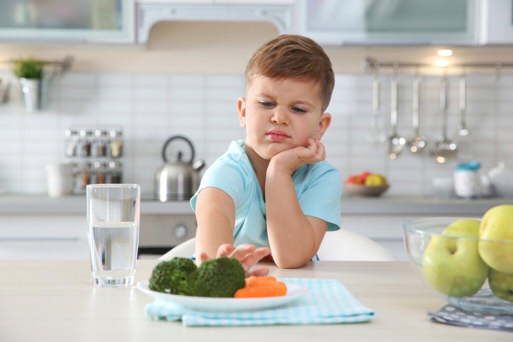 Niños sin ganas de comer con fobias alimentarias