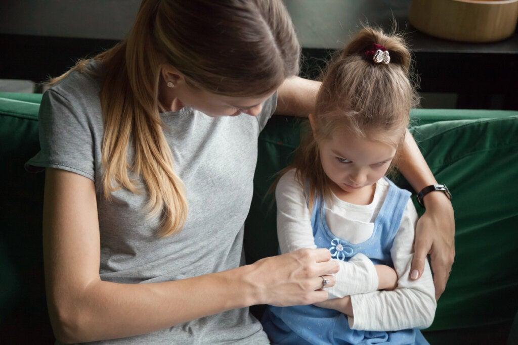 Moeder onderhandelt met haar dochter