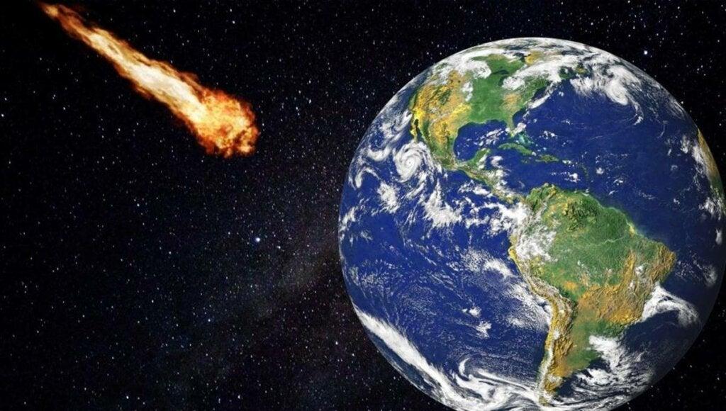 meteorito llegando a la tierra donde los preppers ya están preparados