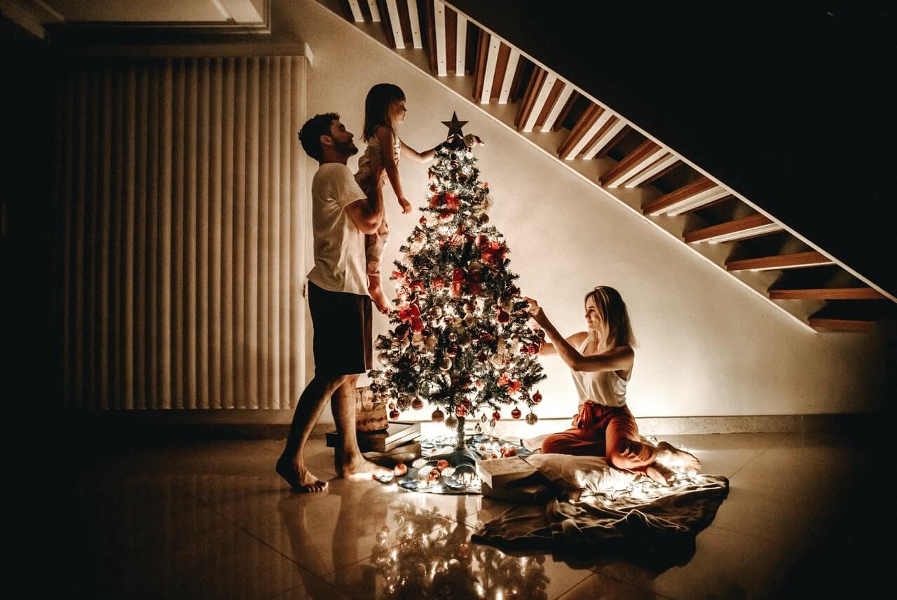 Un ejemplo de felicidad anticipatoria es la que se experimenta en Navidad.