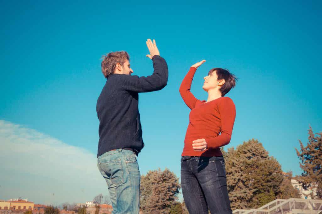 Amigos para representar la ley de la reciprocidad