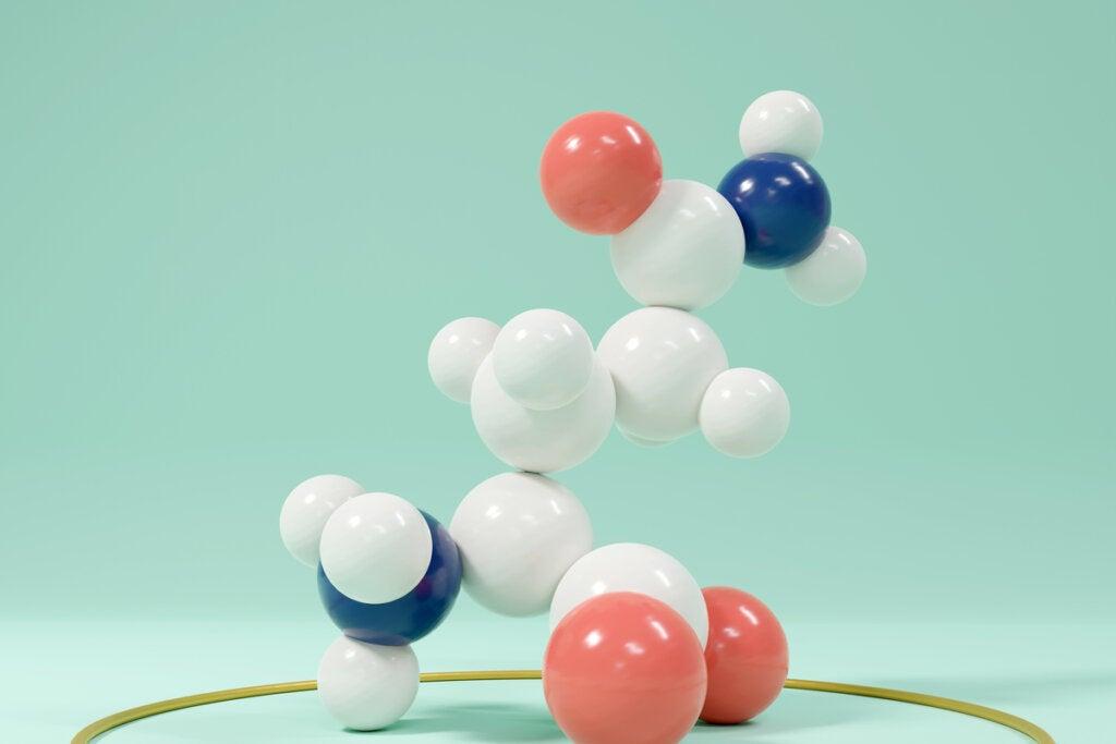 Molécula de glutamina