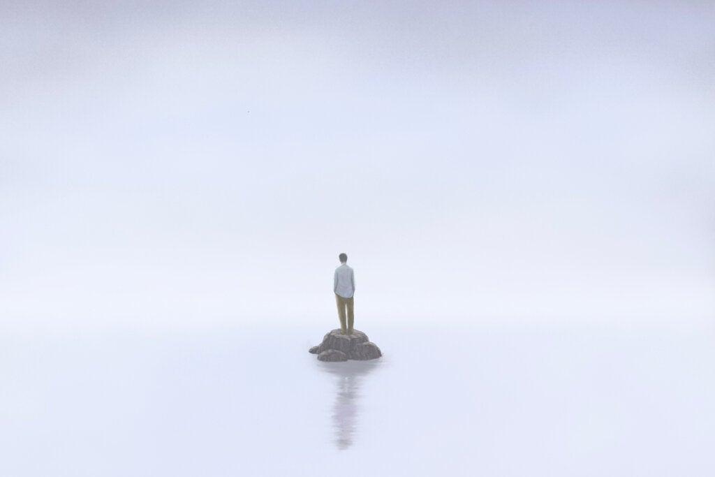 Hombre solo