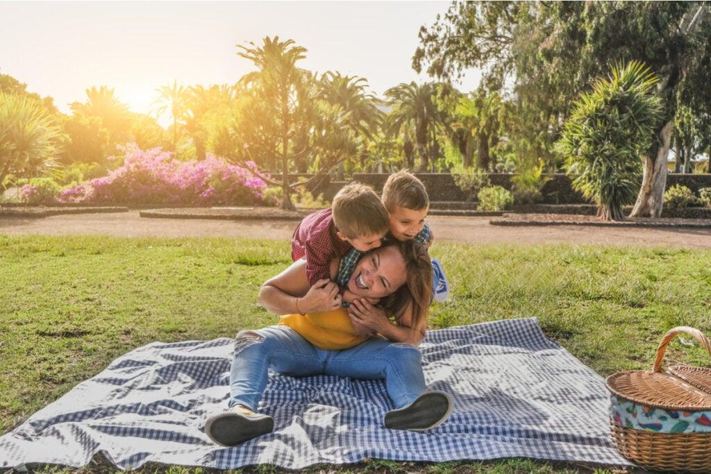 Madres e hijos divirtiéndose