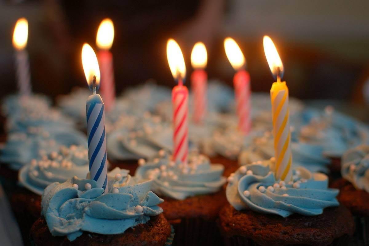 velas para representar las frases para felicitar el cumpleaños
