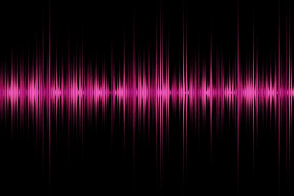 Frecuencias de sonido de color rosa