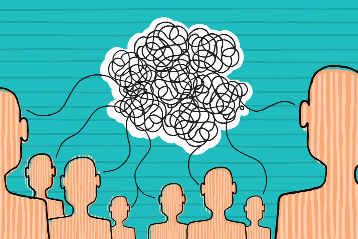 Figuras hablando representando a las persona hábil en Inteligencia Emocional