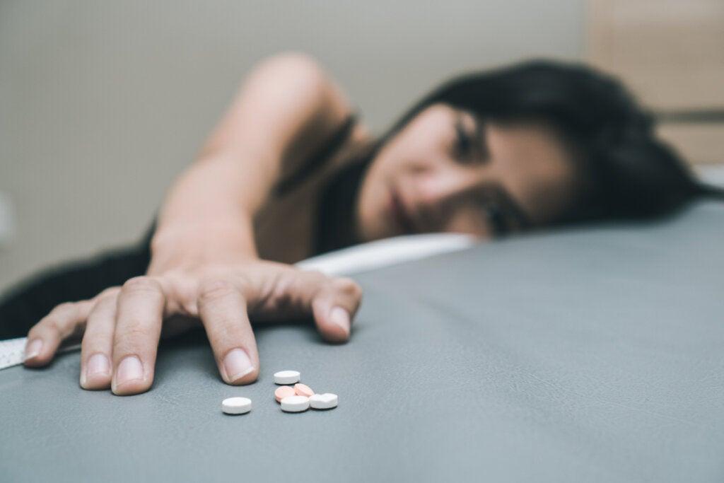Mujer adicta al fentanilo
