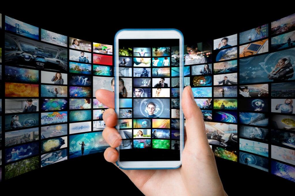 Filmmenu op mobiel