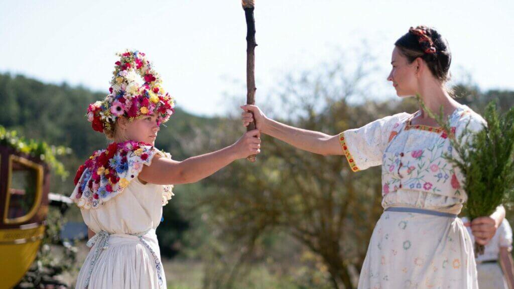 Mujeres celebrando un ritual