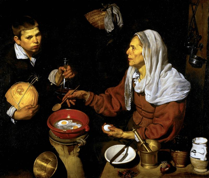 Eine alte Frau kocht Eier, Gemälde von Velázquez