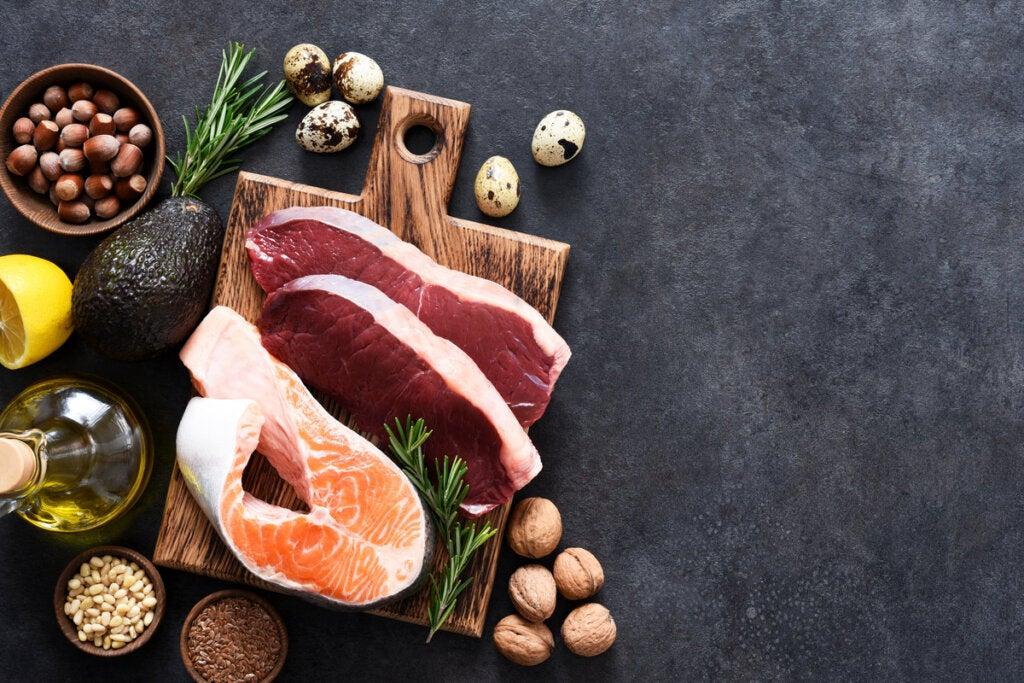 Carnes, verduras y pescado