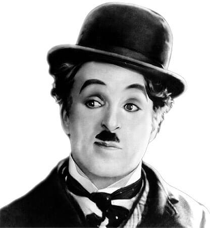 El tradicional personaje de Charles Chaplin.