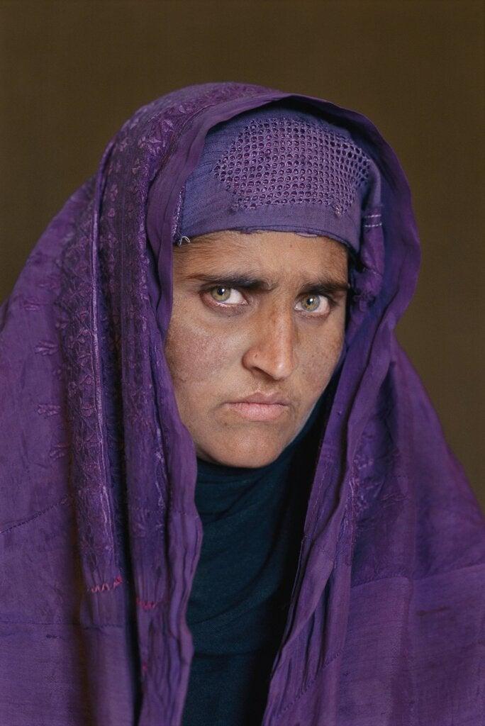 Il volto della donna afgana.