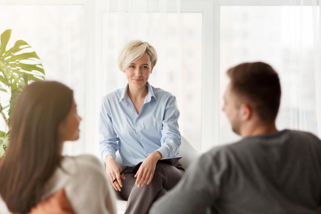 Pareja en terapia con el método Gottman