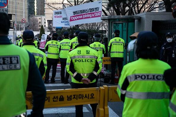 Policía de Corea del Norte.